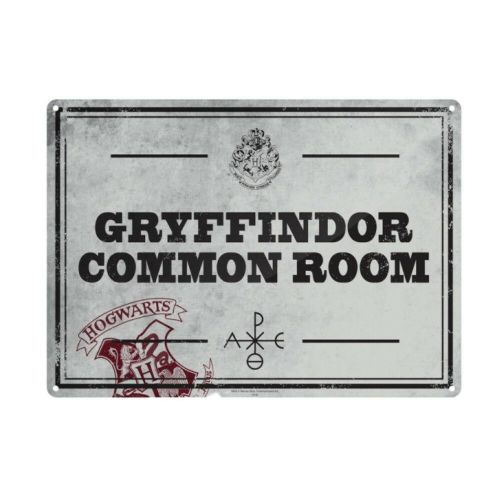 Harry Potter Gryffindor Common Room Tin Sign A5 Wall Plaque
